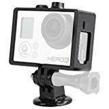 Movoフォトgc34Rugged保護ハウジング用ケージ三脚マウントGoPro hero3、hero3+、hero3+ and hero4アクションビデオカメラ