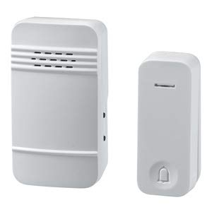 ELPA 電池を使わないワイヤレスチャイムセット ホワイト WC-S6040AC