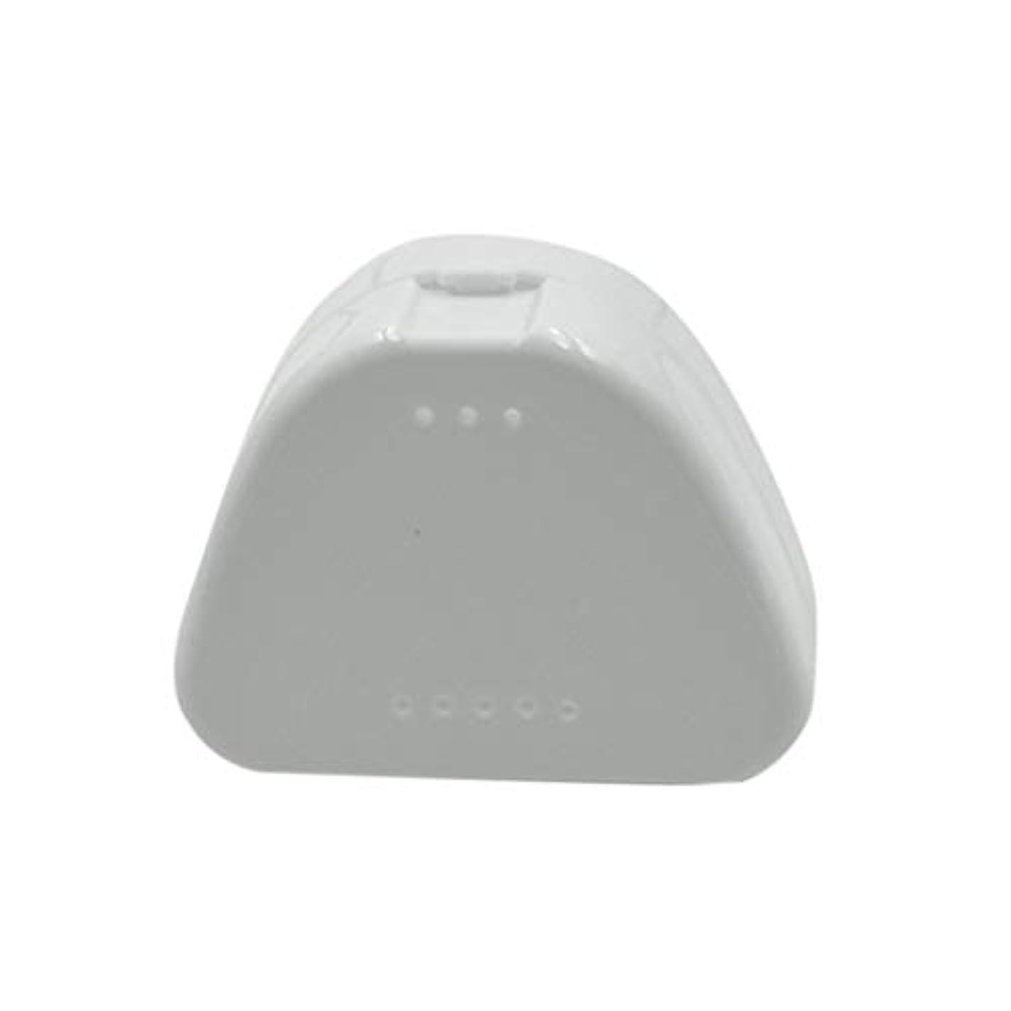 読み書きのできない闘争ご飯SUPVOX 4PCS保持ケース旅行義歯マウスガード収納ケースコンテナ通気孔とスナップ蓋(青、白、赤と透明)