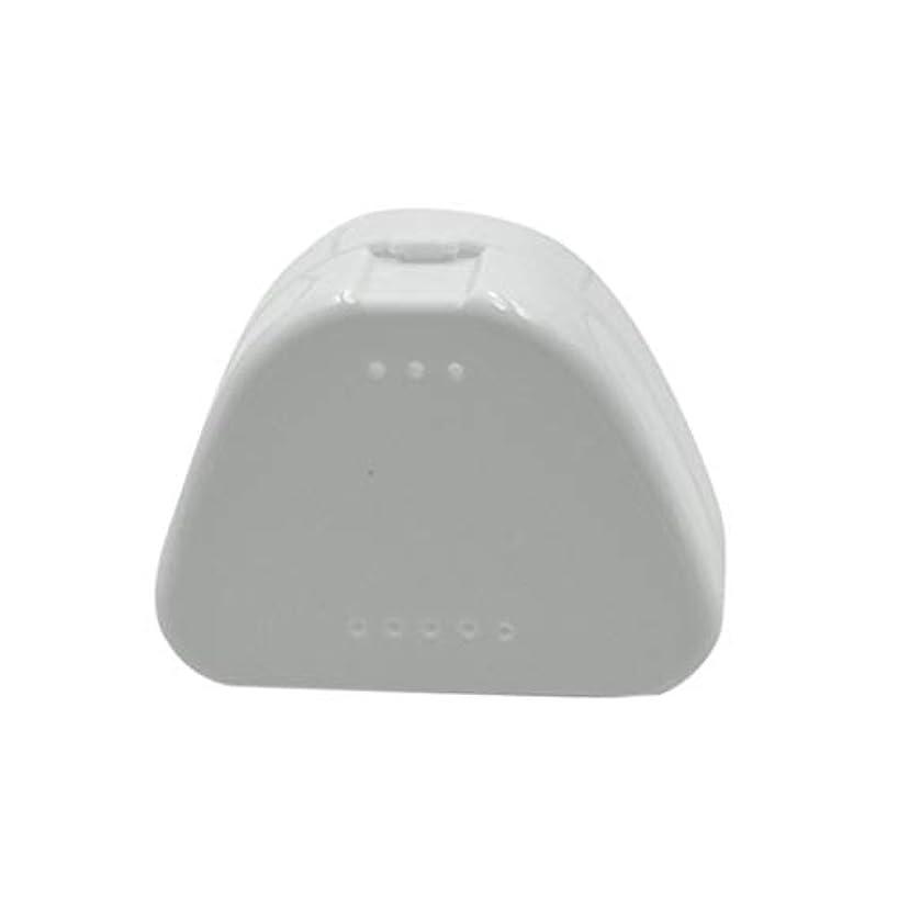 対話敷居余韻SUPVOX 4PCS保持ケース旅行義歯マウスガード収納ケースコンテナ通気孔とスナップ蓋(青、白、赤と透明)