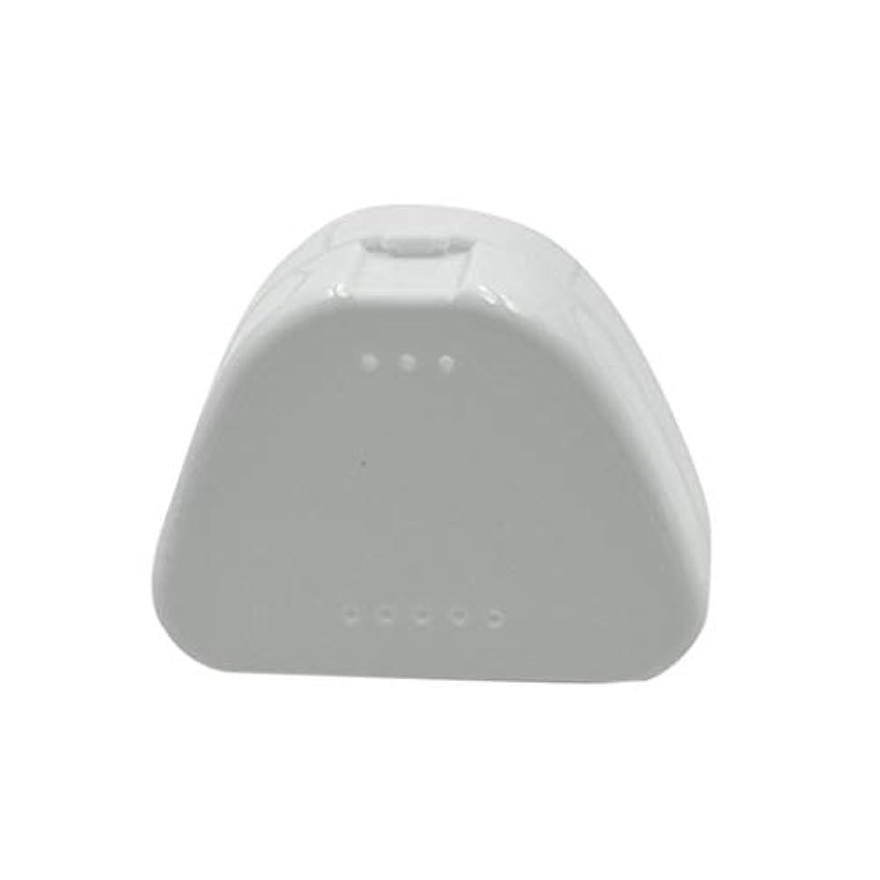キャンセルマンハッタン忘れっぽいSUPVOX 4PCS保持ケース旅行義歯マウスガード収納ケースコンテナ通気孔とスナップ蓋(青、白、赤と透明)