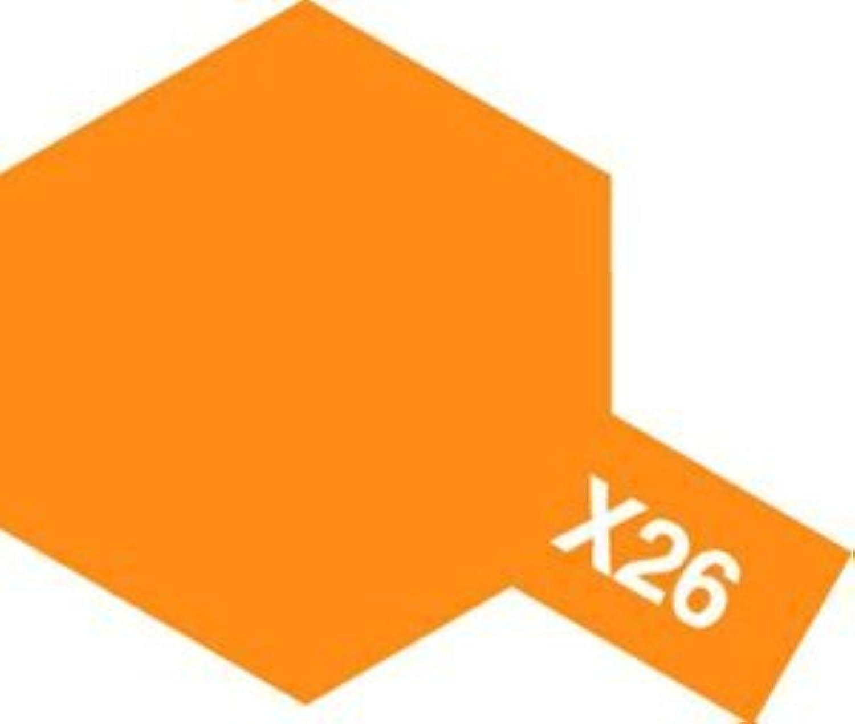 タミヤカラー エナメル塗料 X26 クリヤーオレンジ