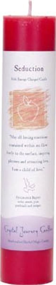 できた剃るテーマCrystal Journey Reiki Charged Herbal Magic Pillar Candle - SEDUCTION - Made with Aromatherapy Essential Oils -...