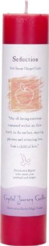 対象リダクター落花生Crystal Journey Reiki Charged Herbal Magic Pillar Candle - SEDUCTION - Made with Aromatherapy Essential Oils -...