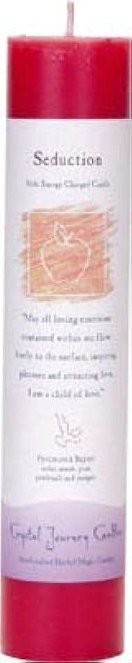 癒す香ばしい耐えられないCrystal Journey Reiki Charged Herbal Magic Pillar Candle - SEDUCTION - Made with Aromatherapy Essential Oils -...