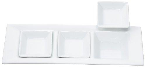 エムズスタイル ホワイト3仕切プレート ホワイト3枚 ミニスクエアープレート 20 75 MS-50006