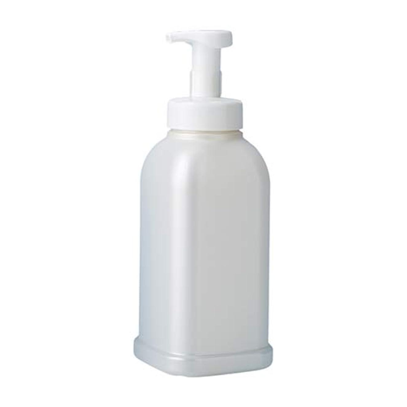 贈り物登る効率押すだけで泡が出る 安定感のある 泡ポンプボトル ボディソープ ハンドソープ 1.2L詰め替え容器 パールホワイト