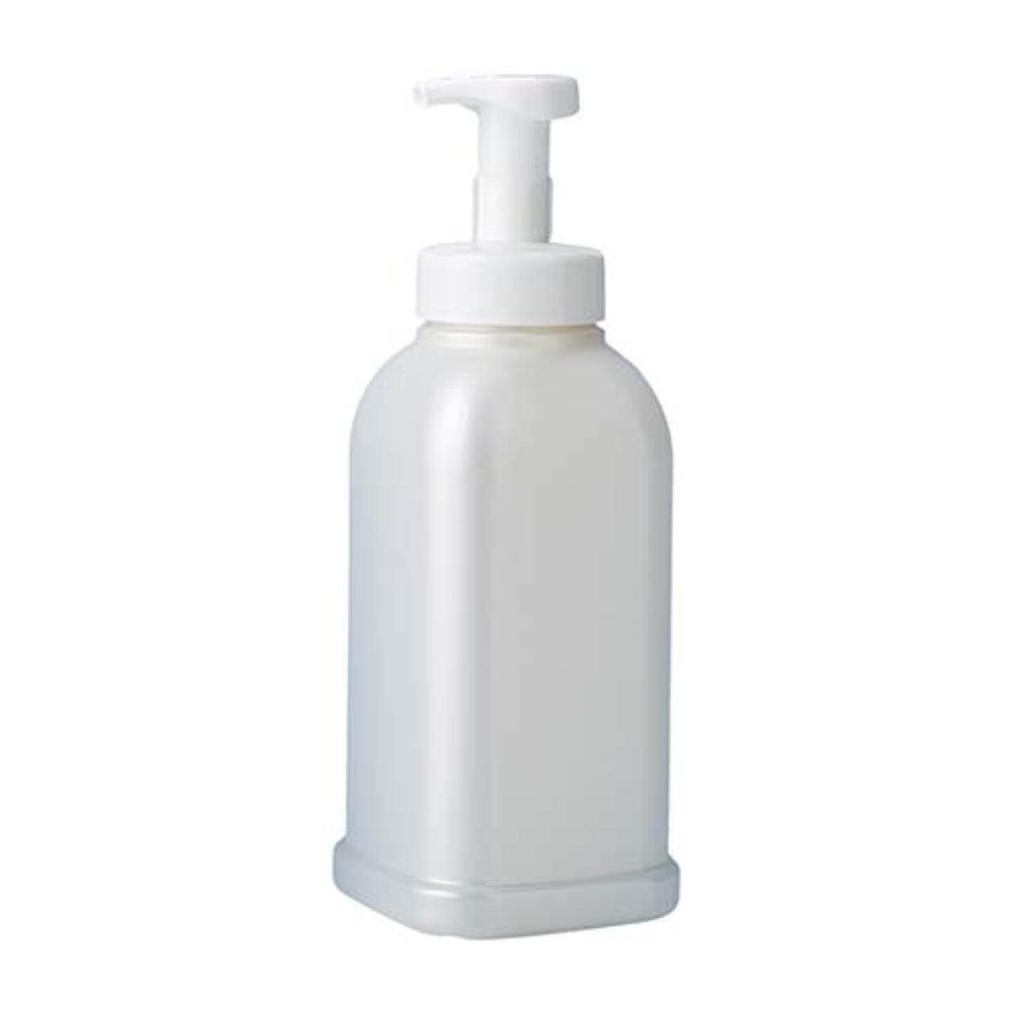 ゲスト恋人ミネラル押すだけで泡が出る 安定感のある 泡ポンプボトル ボディソープ ハンドソープ 1.2L詰め替え容器 パールホワイト