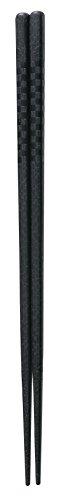 若泉漆器 業務用エコ箸 強化PET樹脂 22.5cm 四角箸 ニュー格子 ブラック 10膳組  H-41-56 洗浄機対応・消毒保管庫対応