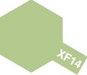タミヤカラー アクリルミニ つや消し XF14 明灰緑色 10ml 81714