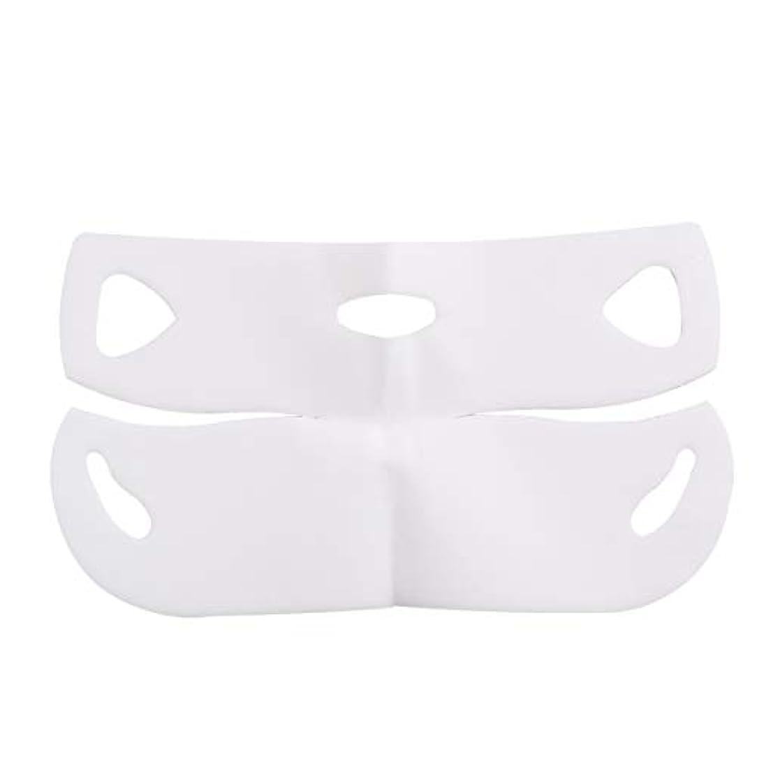 赤シーケンス胃Lurrose Vフェイスマスクフェイスケア顎ライン輪郭保湿リフティングマスク