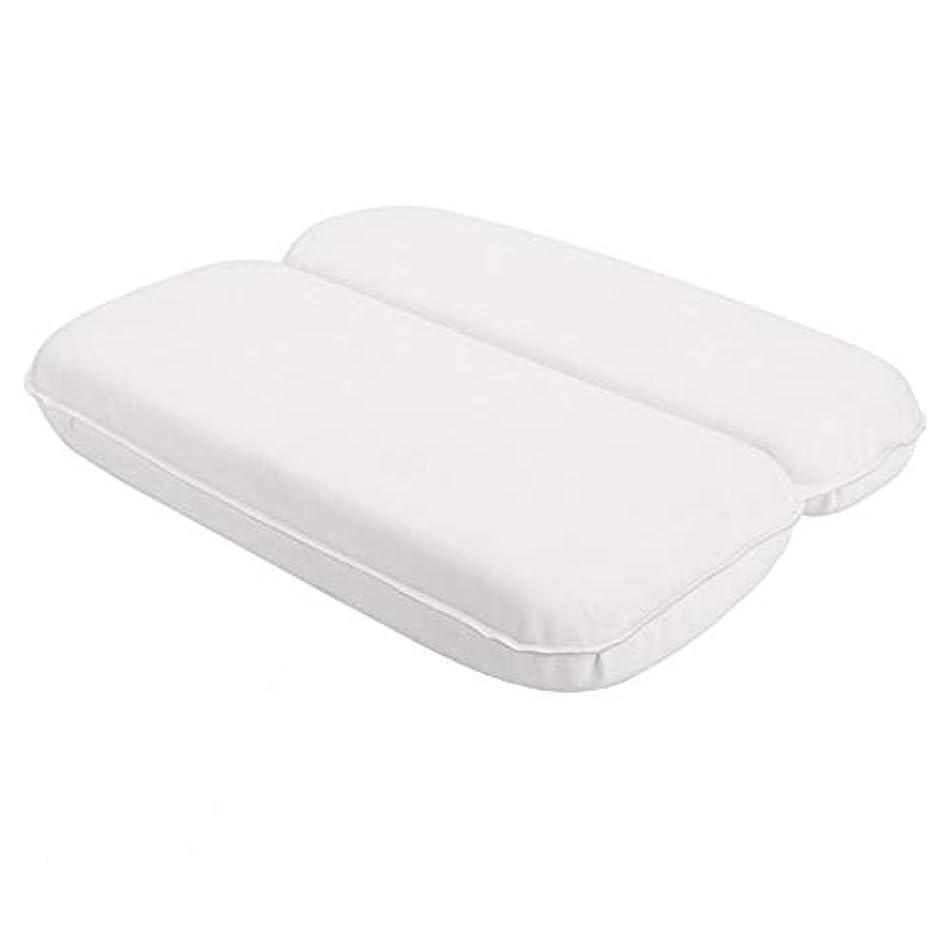 明るいクリエイティブイブ浴槽枕 頭の首や肩へのジャグジースパバス枕プールスパビ??ーチチェアヘッドレスト バスルーム枕 (色 : 白, サイズ : 30 x 40 x 4.5cm)