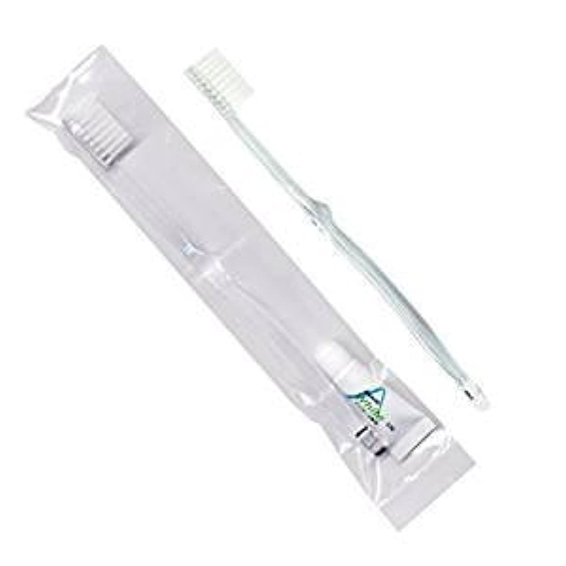 ウサギ首相成熟したホテル業務用歯ブラシ28穴(クリア)3.5gチューブ OP袋Sタイプ 50本