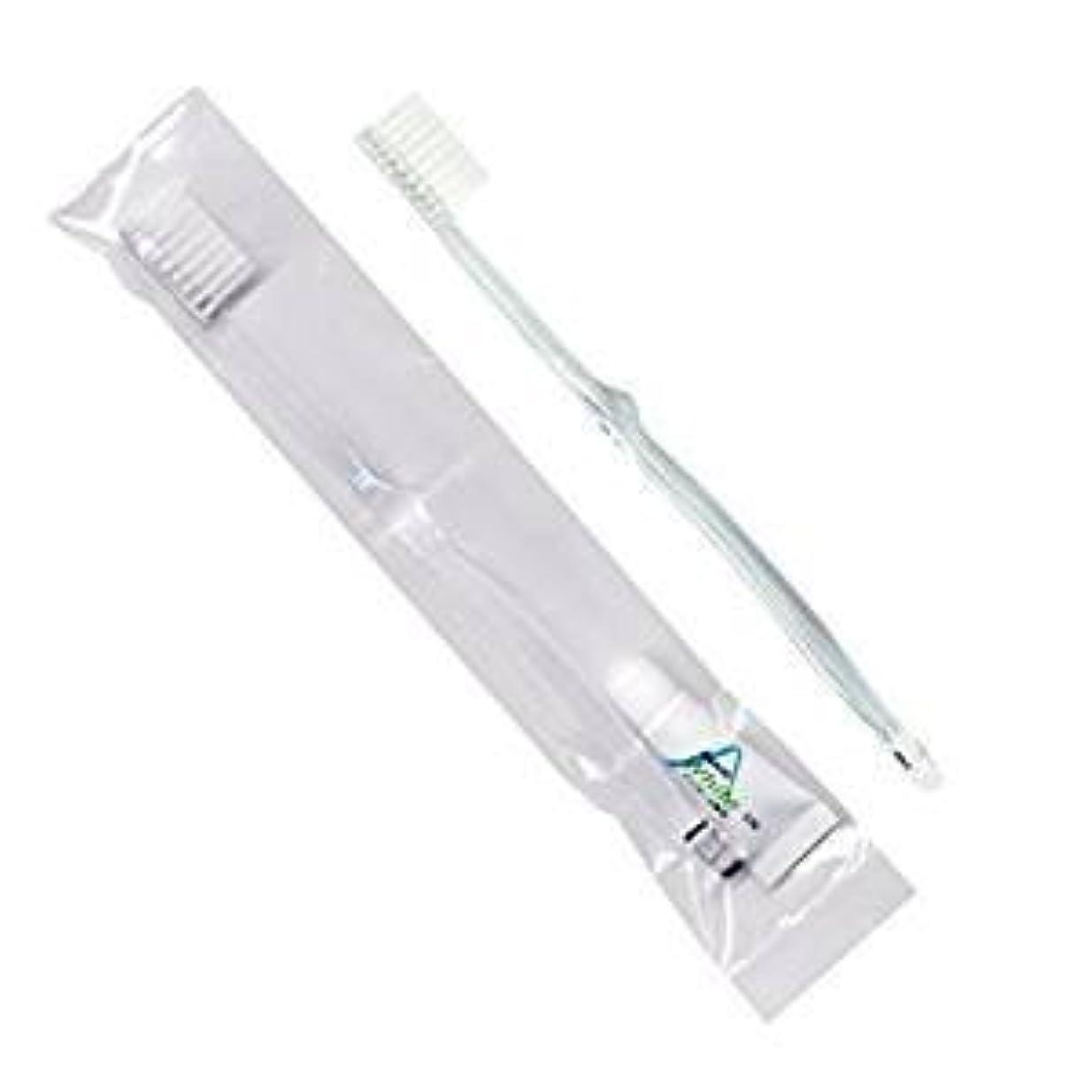 破壊的自分の力ですべてをする煙ホテル業務用歯ブラシ28穴(クリア)3.5gチューブ OP袋Sタイプ 50本