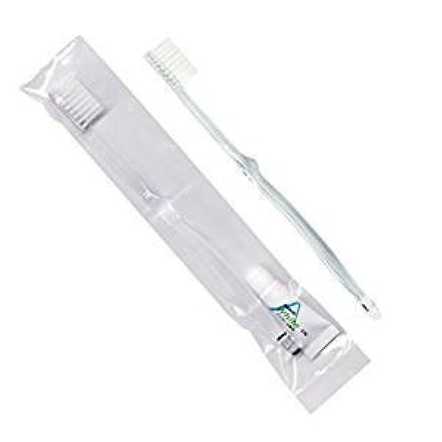 明快最高組み立てるホテル業務用歯ブラシ28穴(クリア)3.5gチューブ OP袋Sタイプ 50本