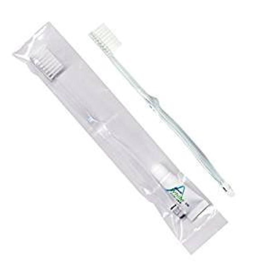 かどうかほんの手足ホテル業務用歯ブラシ28穴(クリア)3.5gチューブ OP袋Sタイプ 50本