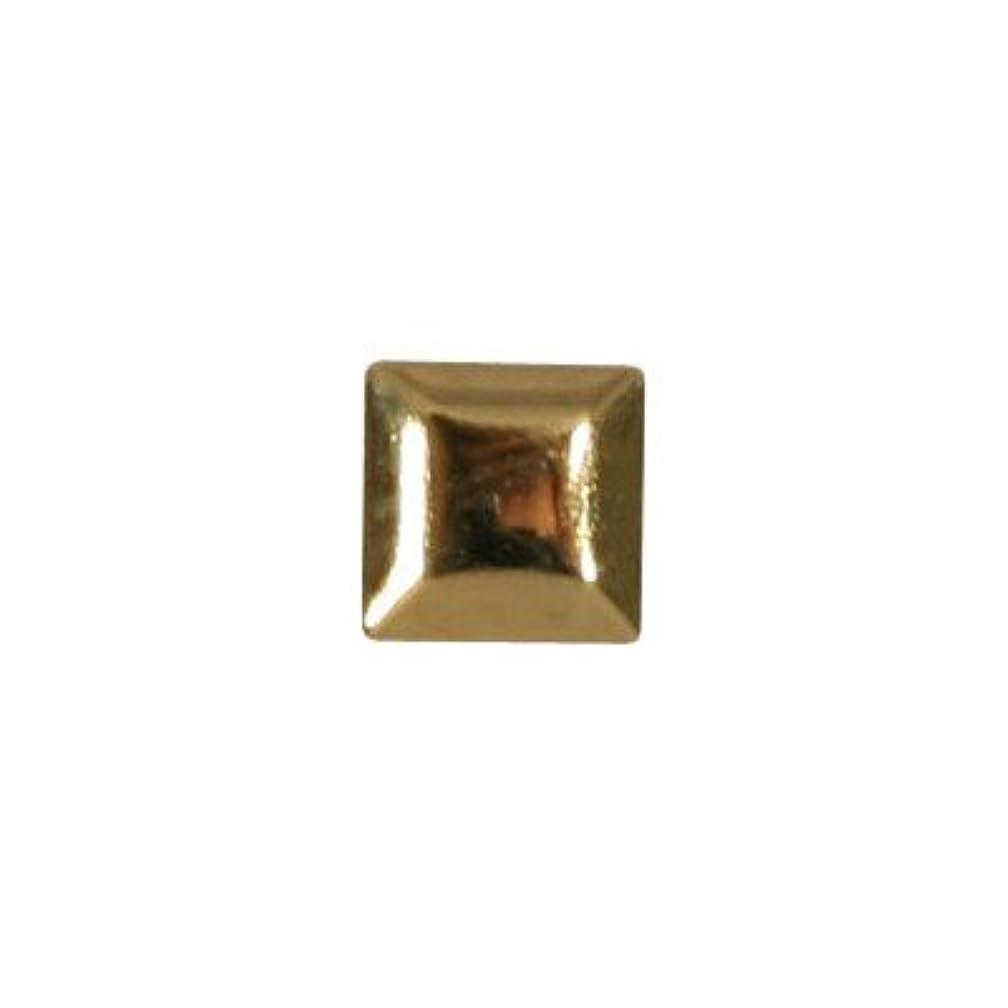 部灌漑荒れ地ピアドラ スタッズ メタルスクエア 3mm 50P ゴールド