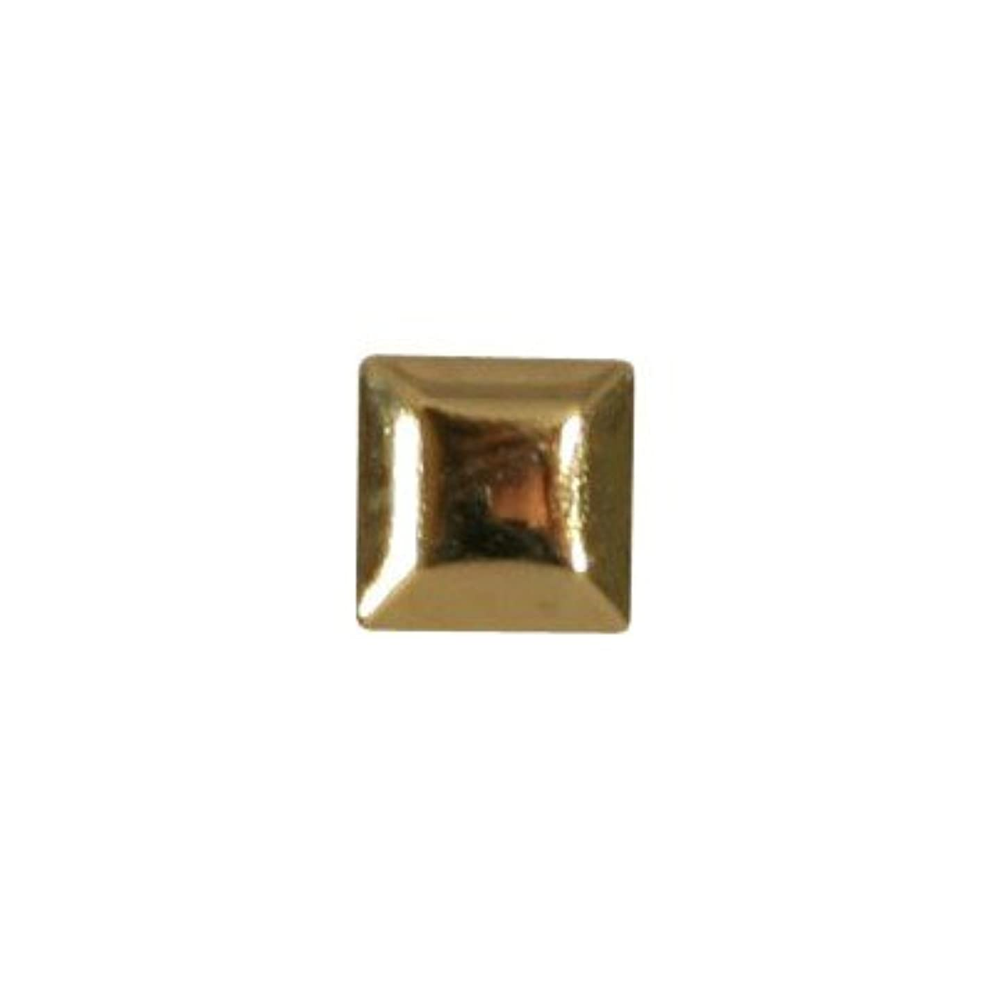 ピアドラ スタッズ メタルスクエア 3mm 50P ゴールド