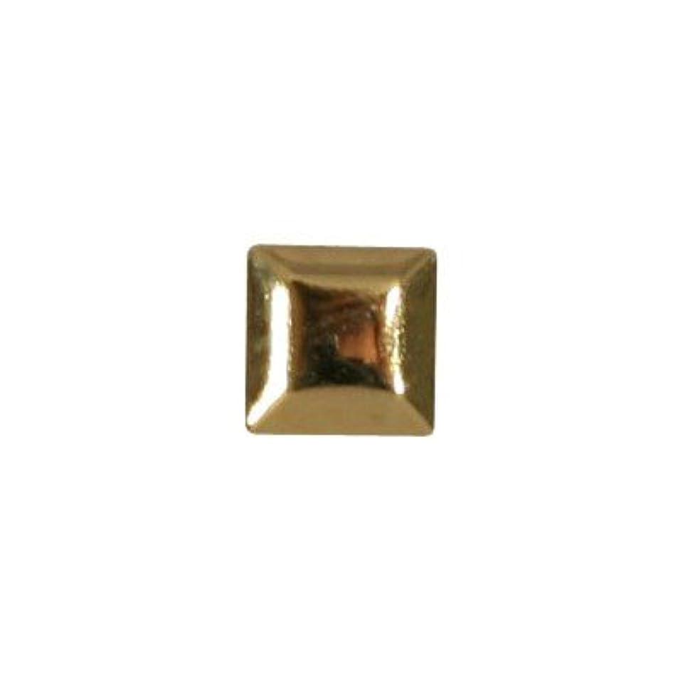 軸達成地下鉄ピアドラ スタッズ メタルスクエア 3mm 50P ゴールド