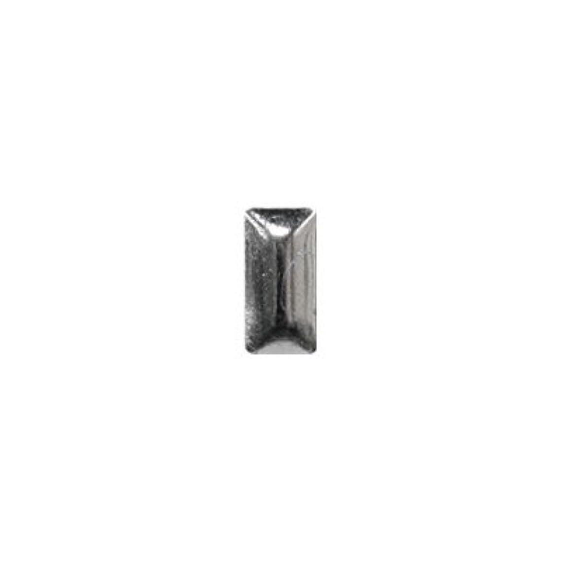 香りカーフ磁器ピアドラ スタッズ メタル長方形 2×4mm 50P シルバー