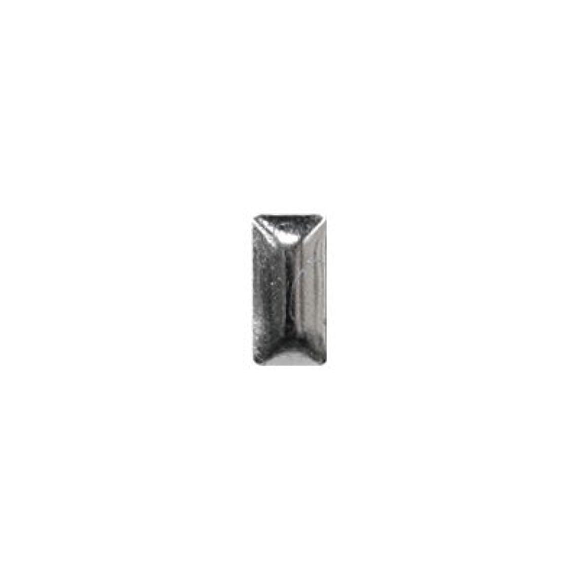 作物酸素教育ピアドラ スタッズ メタル長方形 2×4mm 50P シルバー