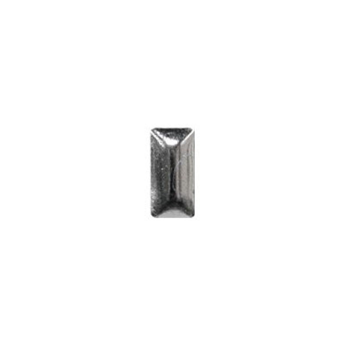 蒸し器代理店パンダピアドラ スタッズ メタル長方形 2×4mm 50P シルバー