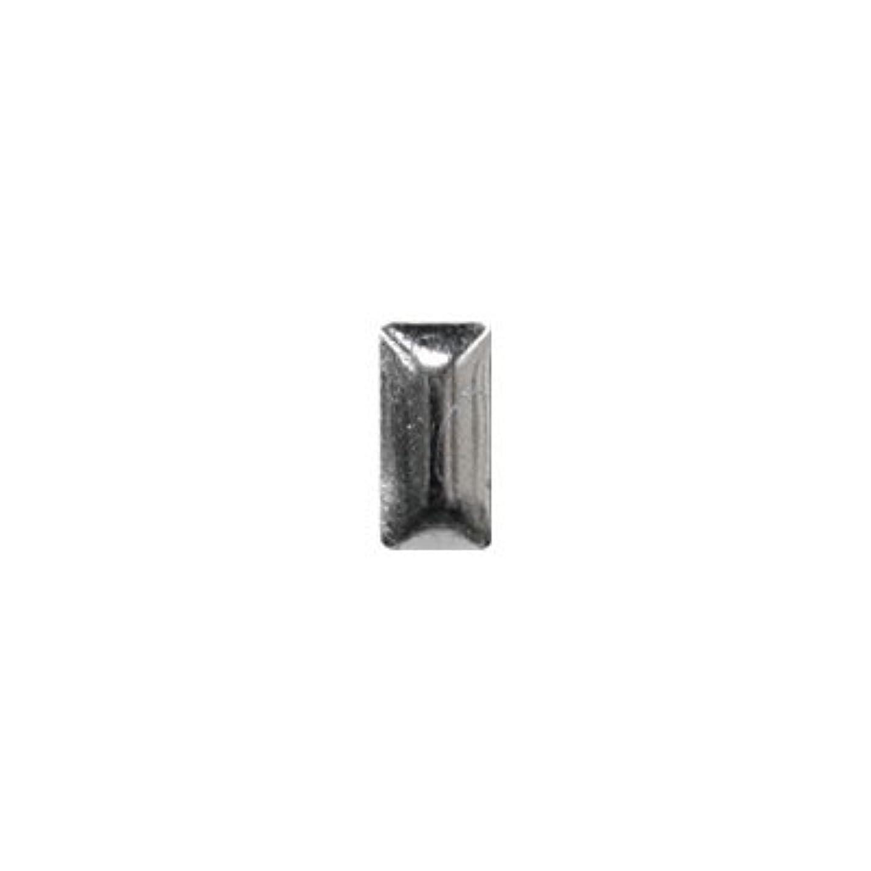 ボックス忙しい肺ピアドラ スタッズ メタル長方形 2×4mm 50P シルバー