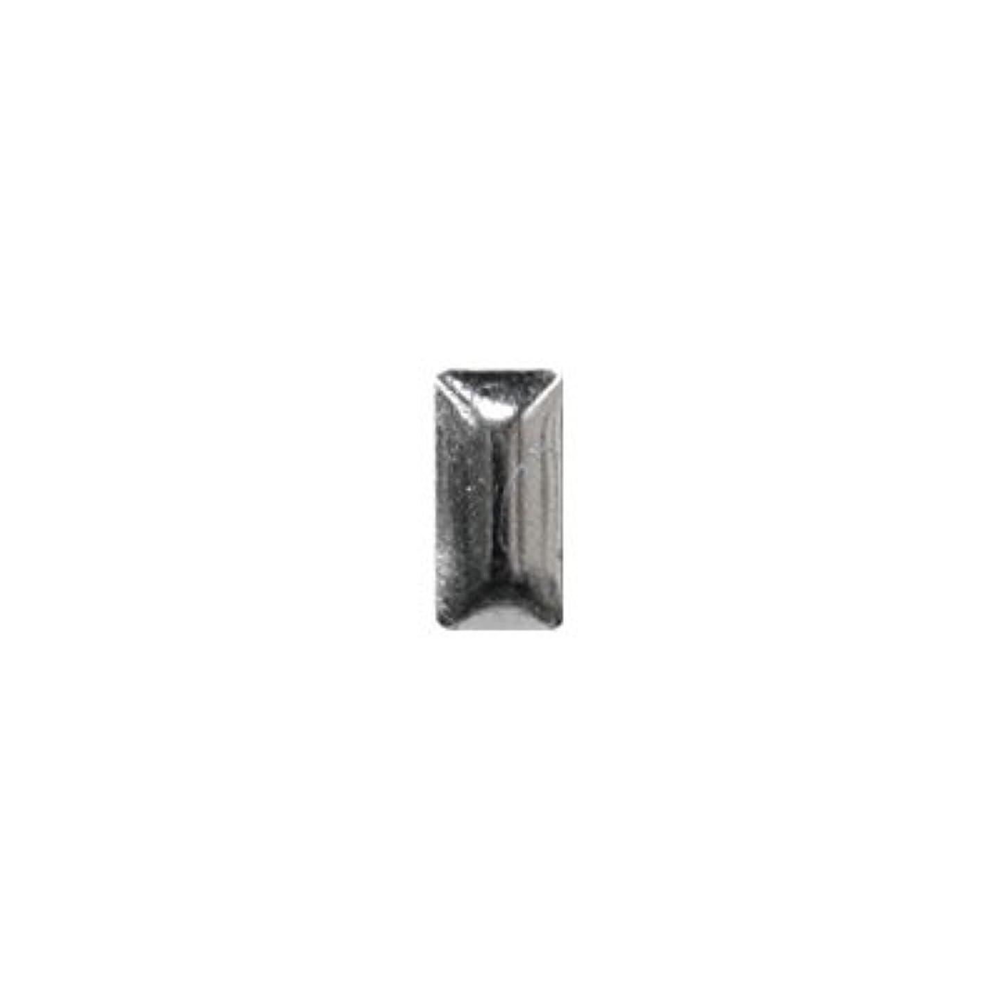 カール疎外興奮ピアドラ スタッズ メタル長方形 2×4mm 50P シルバー