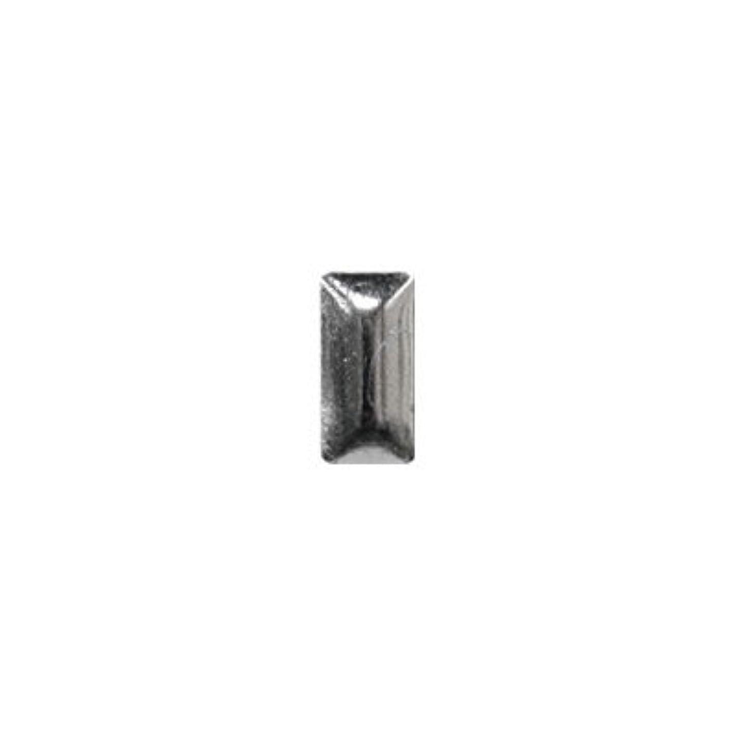 フルーティー即席深めるピアドラ スタッズ メタル長方形 2×4mm 50P シルバー