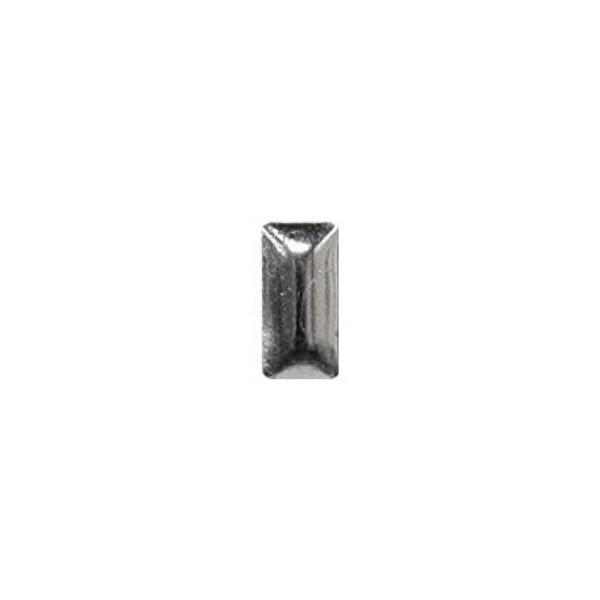 湿気の多い針イチゴピアドラ スタッズ メタル長方形 2×4mm 50P シルバー