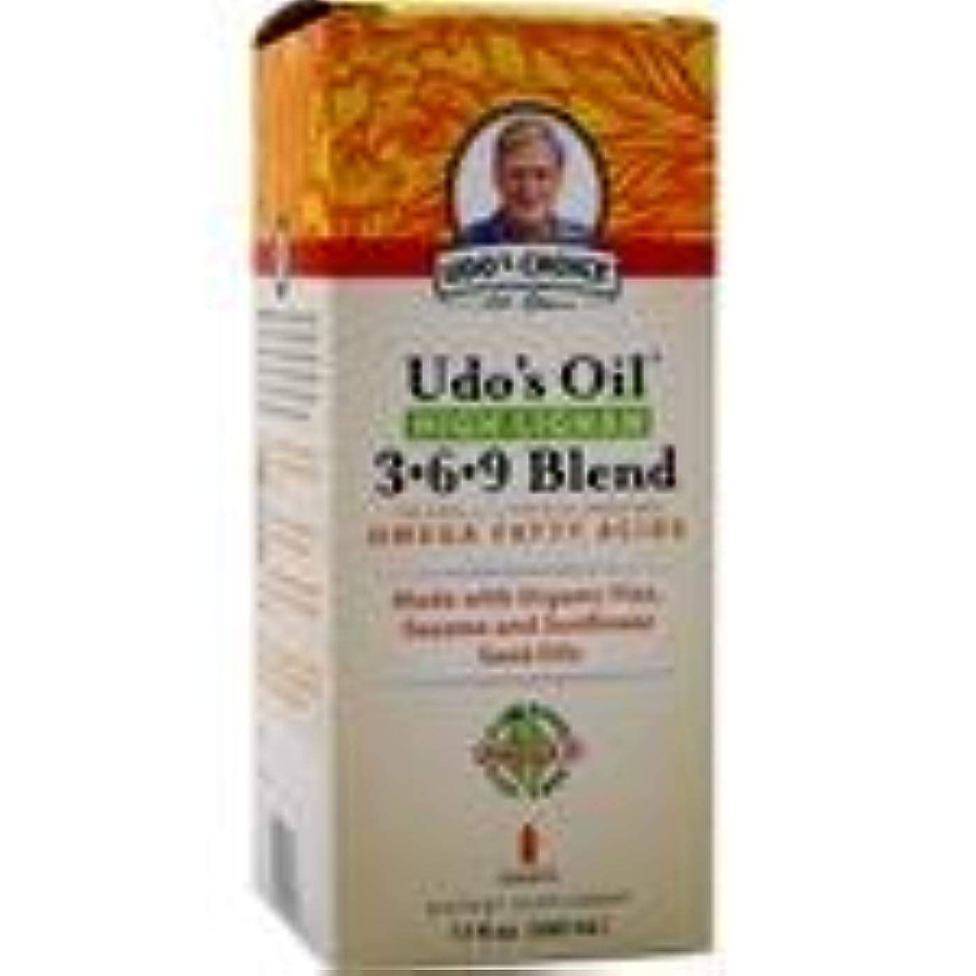 邪魔シュートミニチュアUdo's Oil High Lignan 3-6-9 Blend 17 fl.oz 2個パック