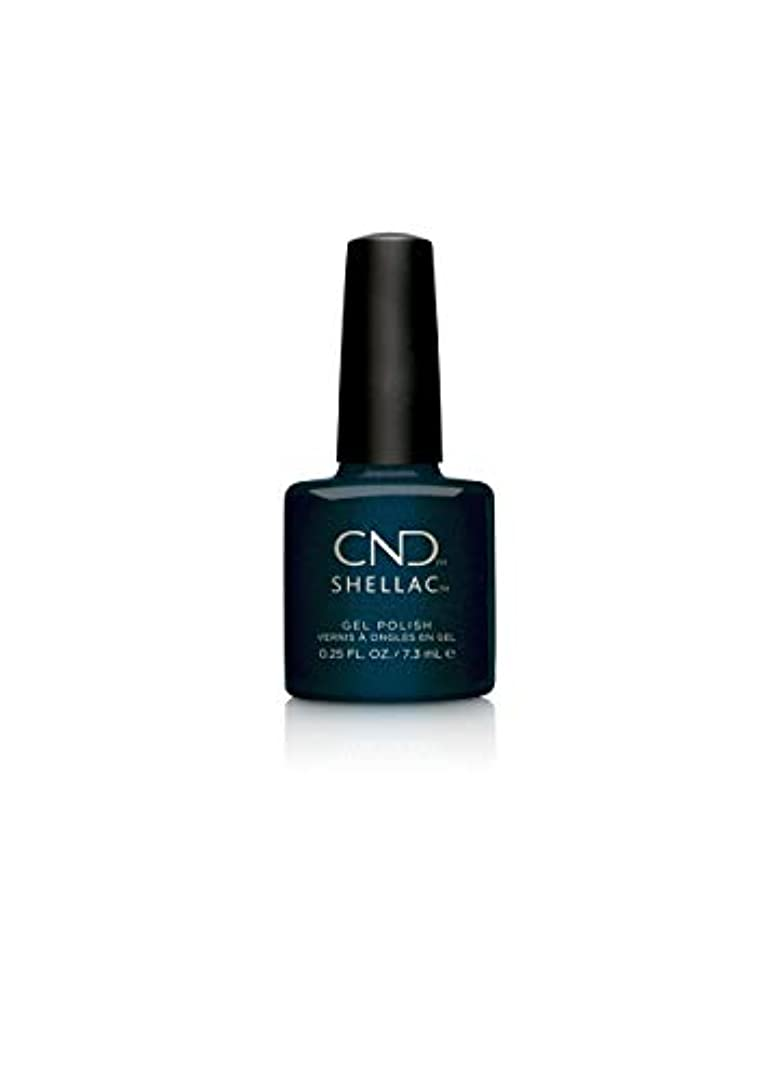 所属ピンク取り出すCND Shellac Polish - Midnight Swim .25oz / 7.3mL