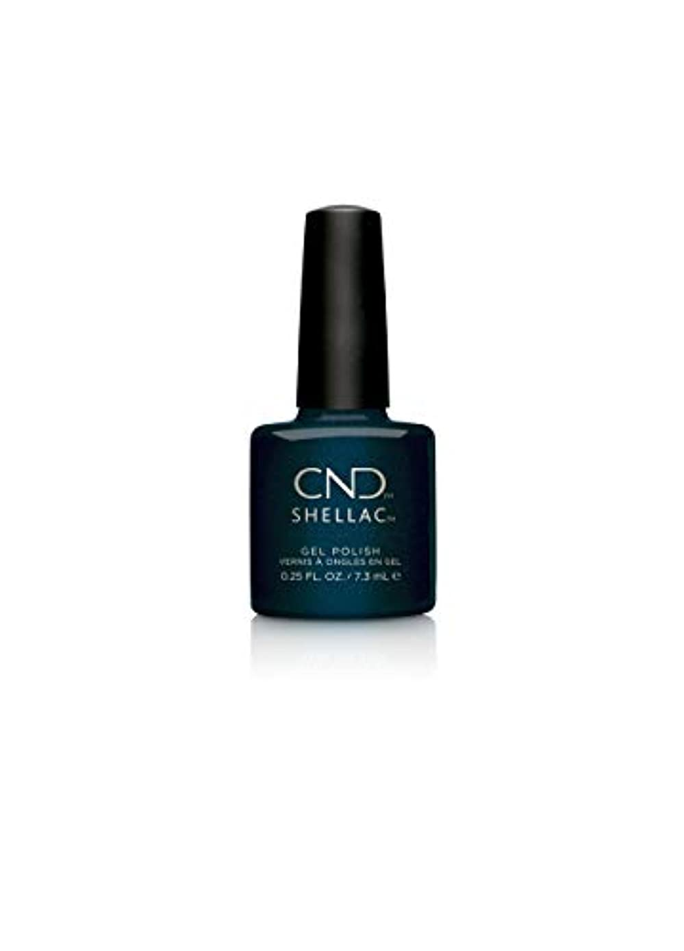 契約した舌地上のCND Shellac Polish - Midnight Swim .25oz / 7.3mL