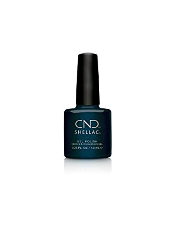 鉄修正する染料CND Shellac Polish - Midnight Swim .25oz / 7.3mL