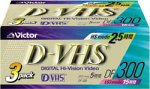 Victor 3DF-300B D-VHSテープ3巻パック