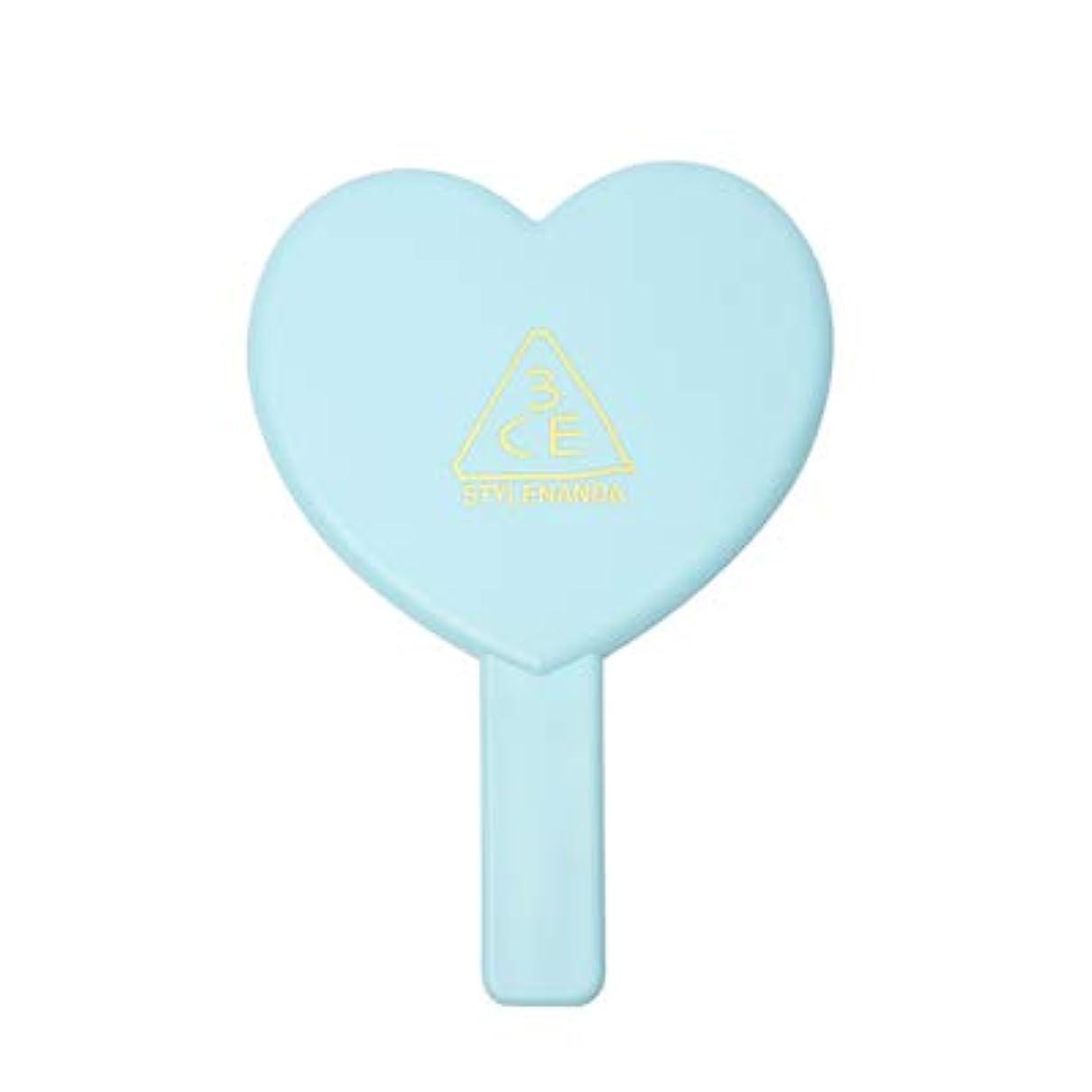 降雨接尾辞宝石3CE LOVE 3CE HEART HAND MIRROR (BLUE) / ラブ3CEハート?ハンド?ミラー (ブルー) [並行輸入品]