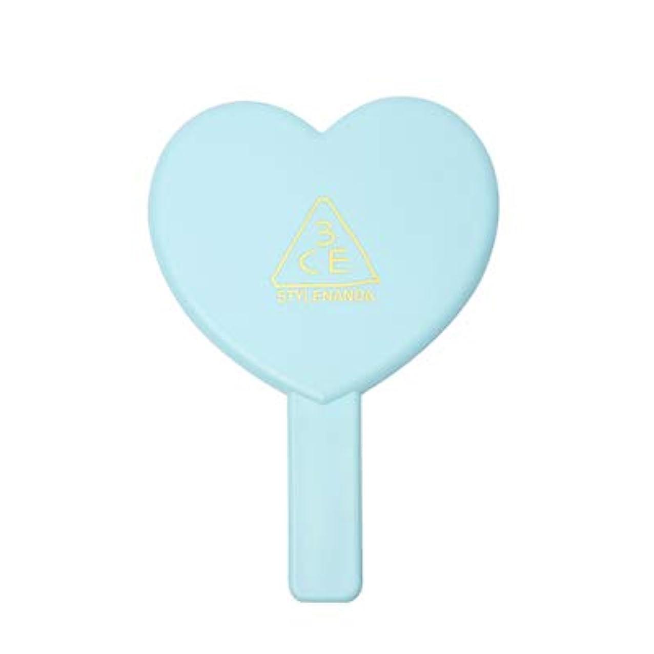 3CE LOVE 3CE HEART HAND MIRROR (BLUE) / ラブ3CEハート?ハンド?ミラー (ブルー)[並行輸入品]