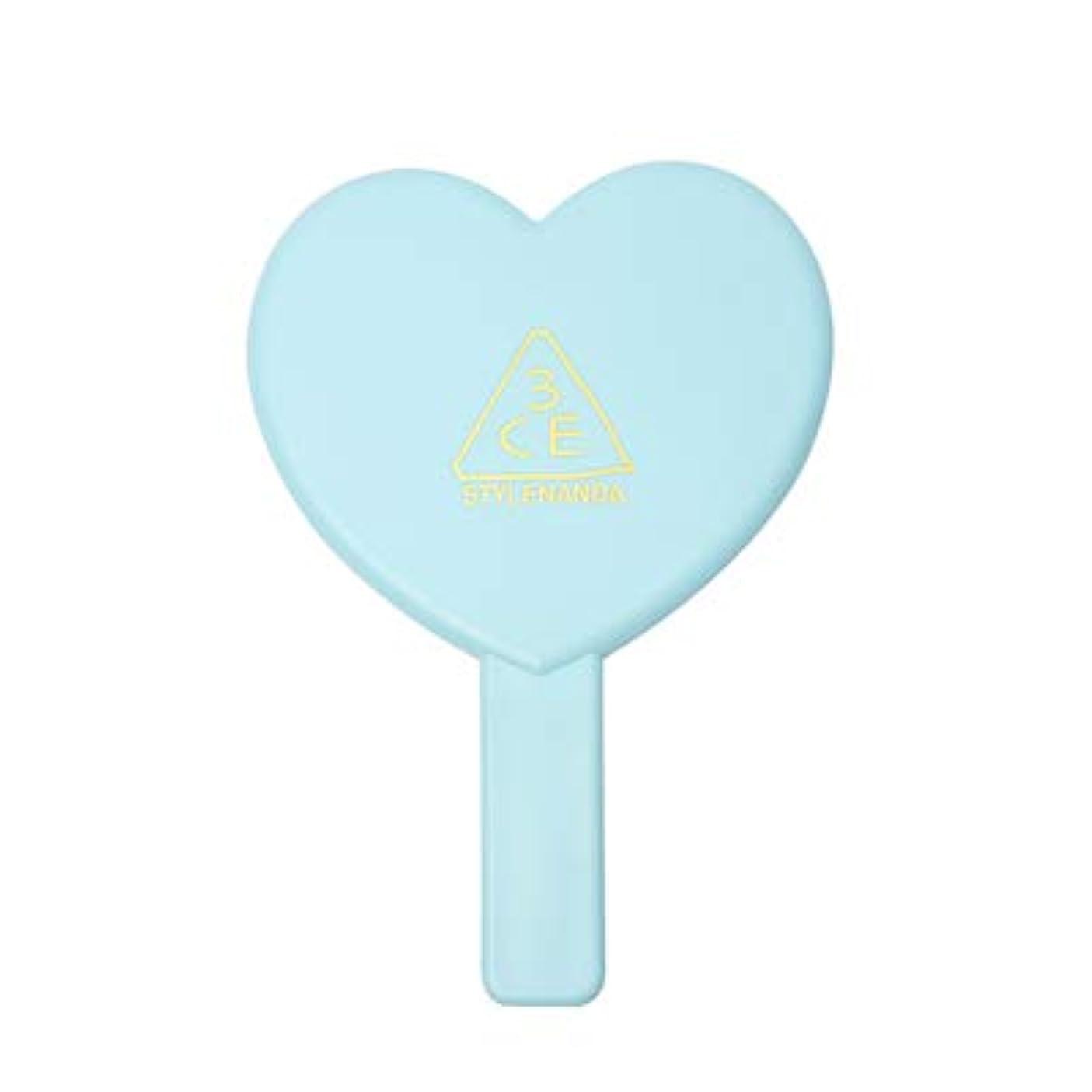 乱雑な許可する戦い3CE LOVE 3CE HEART HAND MIRROR (BLUE) / ラブ3CEハート?ハンド?ミラー (ブルー) [並行輸入品]