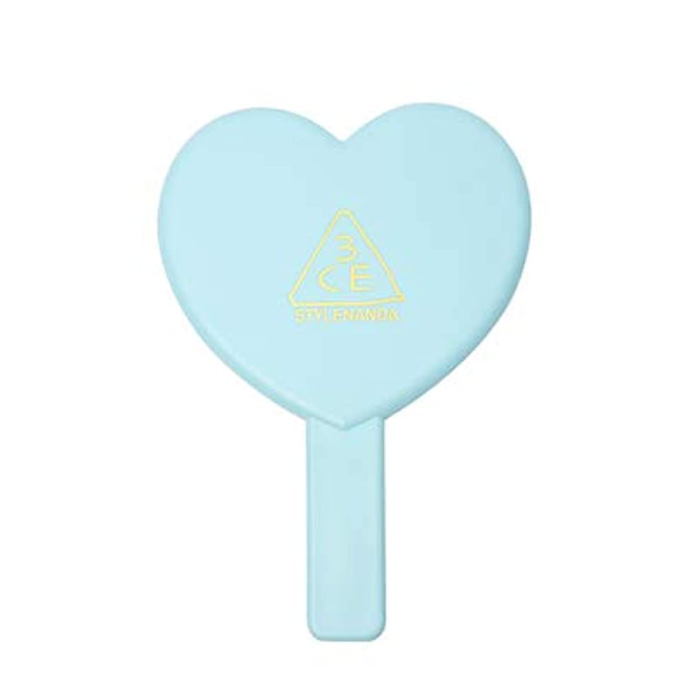 細分化する刃誠実さ3CE LOVE 3CE HEART HAND MIRROR (BLUE) / ラブ3CEハート?ハンド?ミラー (ブルー)[並行輸入品]