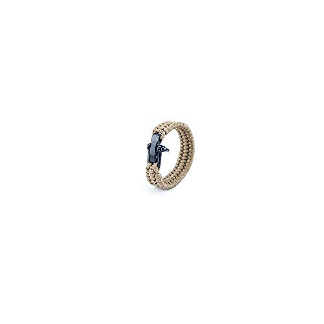 大声でリレーカイウスVideoPUP パラコードサバイバルブレスレット 7コアパラシュートロープ 編組U字型スチールバックル 調節可能なサバイバルブレスレット 登山 キャンプ 緊急レスキューブレスレット 1個