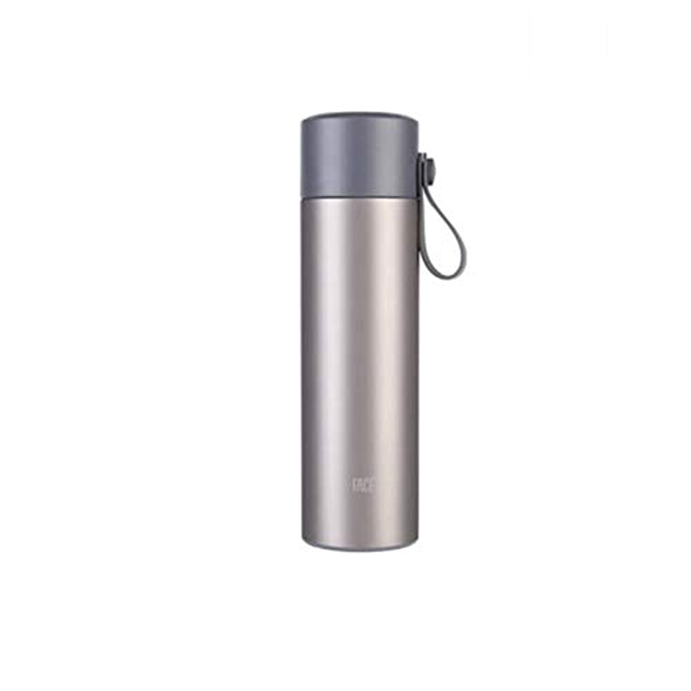 傘相手シプリーFH マグカップ学生新鮮文学316ステンレス鋼大容量ポータブル屋外ウォーターカップ (色 : グレー)