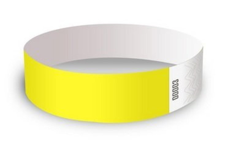 Event Wristband 使い捨てリストバンド(500枚)19mm幅 イベント、フェス、ライブ、クラブ、ビーチイベントの人数カウント,再入場管理に