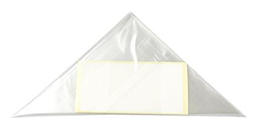 【国産】アイシング用コルネ三角シート【シール付】150×150《100枚》