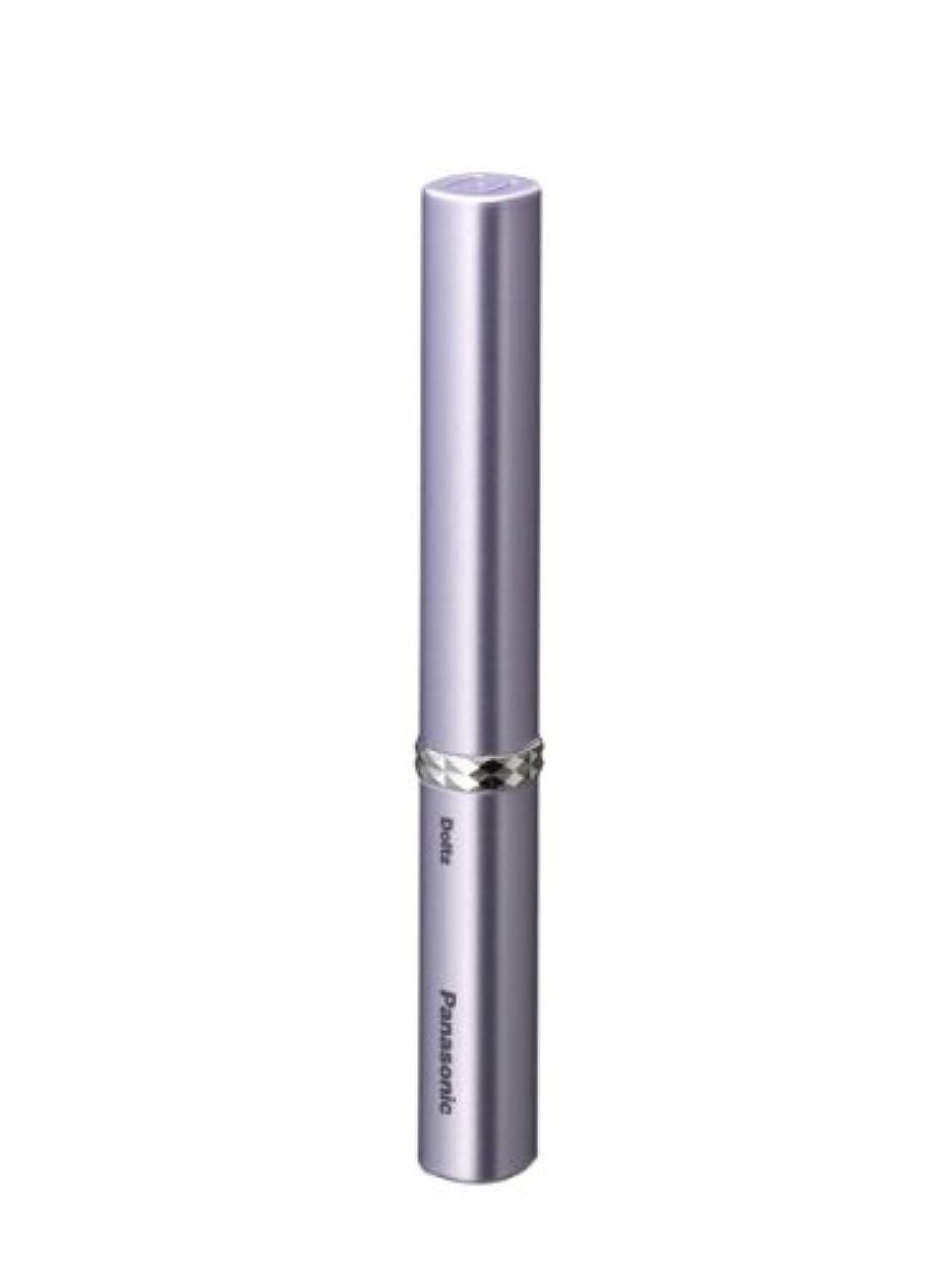 クライストチャーチ一掃する召集するパナソニック 音波振動ハブラシ ポケットドルツ バイオレット EW-DS13-V