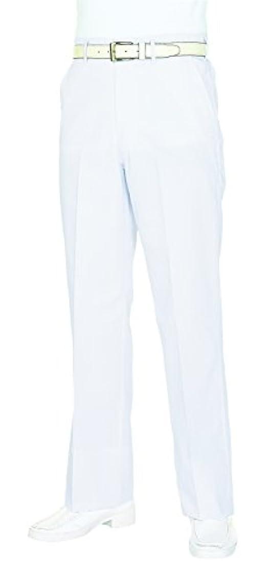 学者追加する早熟医療/介護ユニフォーム メンズスラックスファスナー KAZEN アプロン ホワイト 430-49 Lフリー W73