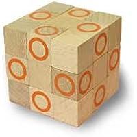 木製キューブ型パズル【コブラBIG/オレンジ】