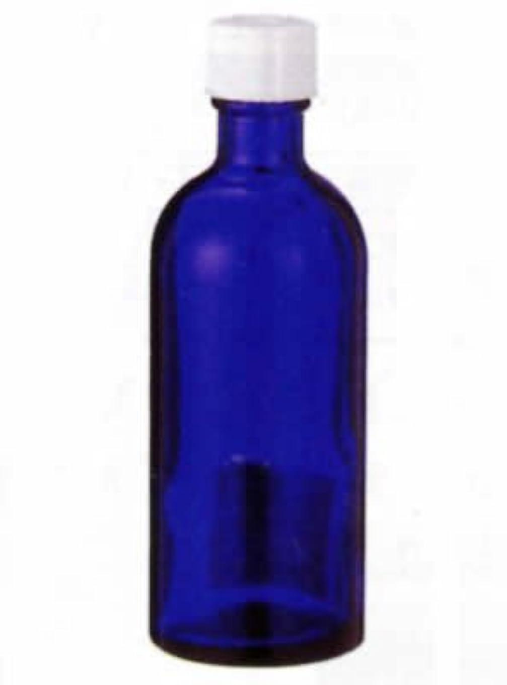 無意味ダイヤモンドアンティーク生活の木 青色遮光瓶 100ml