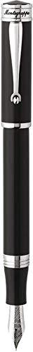 モンテグラッパ 万年筆 ドゥカーレ パラジューム プレイテッド ブラック ペン先:M ISDUR3PC