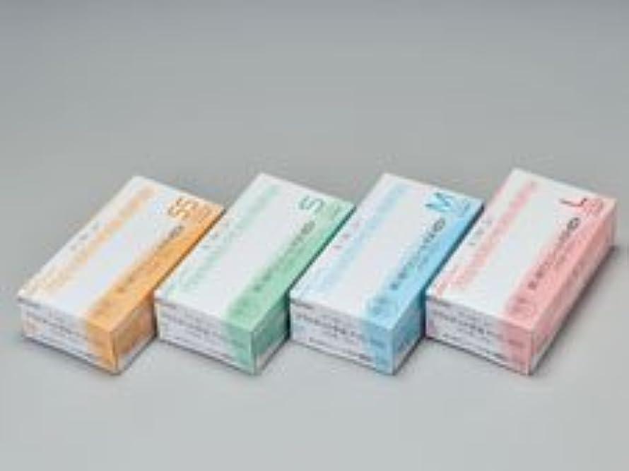 飾る流行している触覚エクセレントプラスチック手袋PVC-100 パウダーフリー M (100枚入)