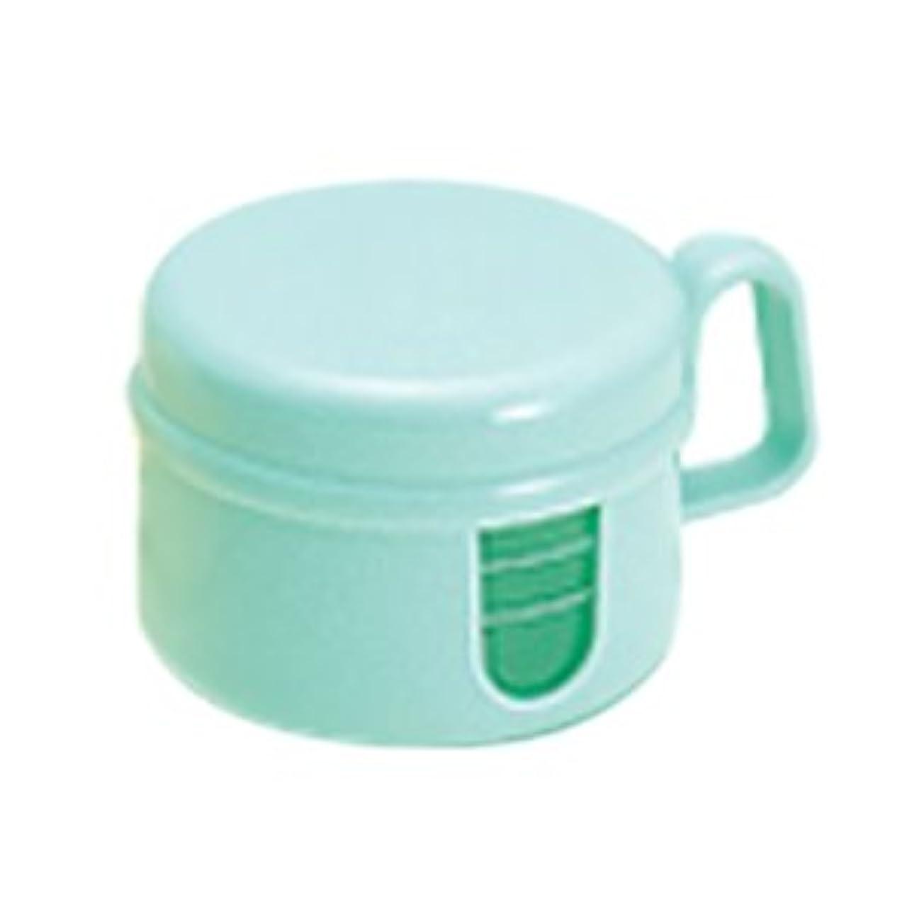 音楽廃止するポーター松風 ピカ 入れ歯 洗浄保存容器 グリーン